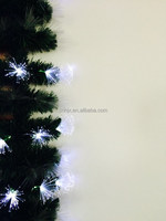 Color Changing Optic Fiber PVC Artificial Christmas Garland