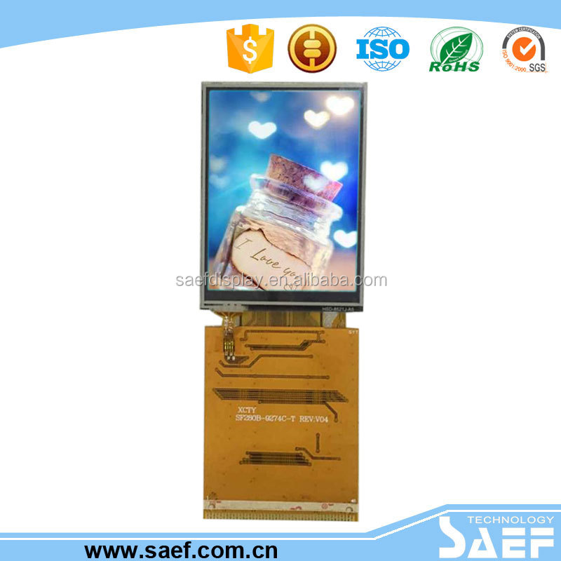 2.8 inch QGVA TFT module IPS lcd screen with SPI/RGB interface with ILI9341 LCD display with touch panel