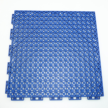 Eco friendly pp interlocking plastic portable basketball court sports flooring, modular sport outdoor flooring with drain holes