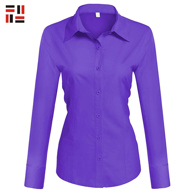 China supply casual style cloth female formal wear with long sleeve