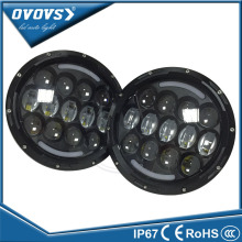 OVOVS h4 round 85w 7'' inhch 12v 24v round headlight with drl