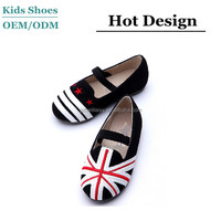 J-C0149 New style leather material children shoes fashion kids girl dress shoes classic design union jack shoes