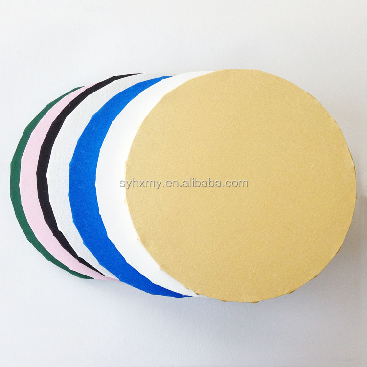 Round canvas painting colorful back staple stretched canvas paintings