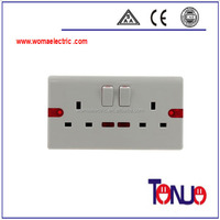 13A 2Gang 6 Pin New Design power wall switch and socket