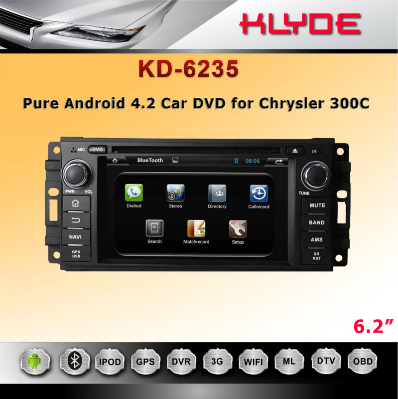 Android car dvd player with BT/WIFI/RADIO/GPS for Chrysler 300C