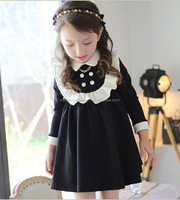 Wholesale latest 1-6 years old baby girl dress kids christmas winter long sleeve tutu party dresses