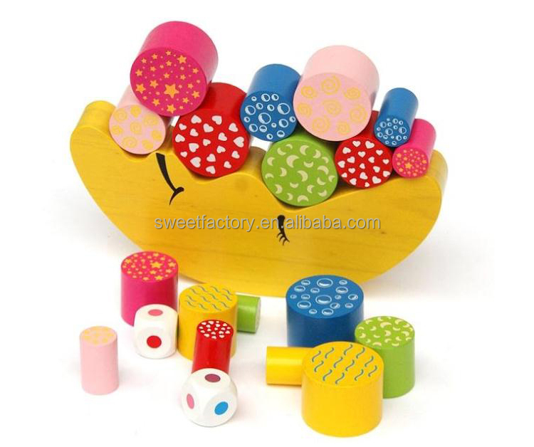 Popular wooden moon balance building blocks toy,Funny DIY wooden balance building blocks toy,TM0552
