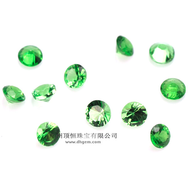 China Best Selling Natural Green Garnet Gemstone Wholesale Prices