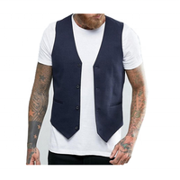 Fashion Custom Latest Waistcoat Designs For Men Male Formal Suit Vest