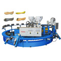 Double colors PCU and PVC sandals making machine