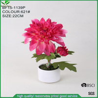 high quality realistic pink artificial dahlia for decoration