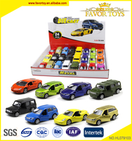Can open the door 24pcs pull back 1/64 diecast car models