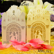 pink romantic house shape wedding favor gift boxes,gift boxes for wedding favors(MWC-023)