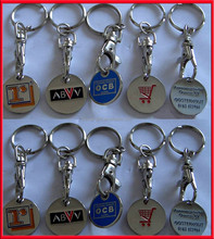 Wholesale Personalized Design Metal Token Keyring for Promotional Items