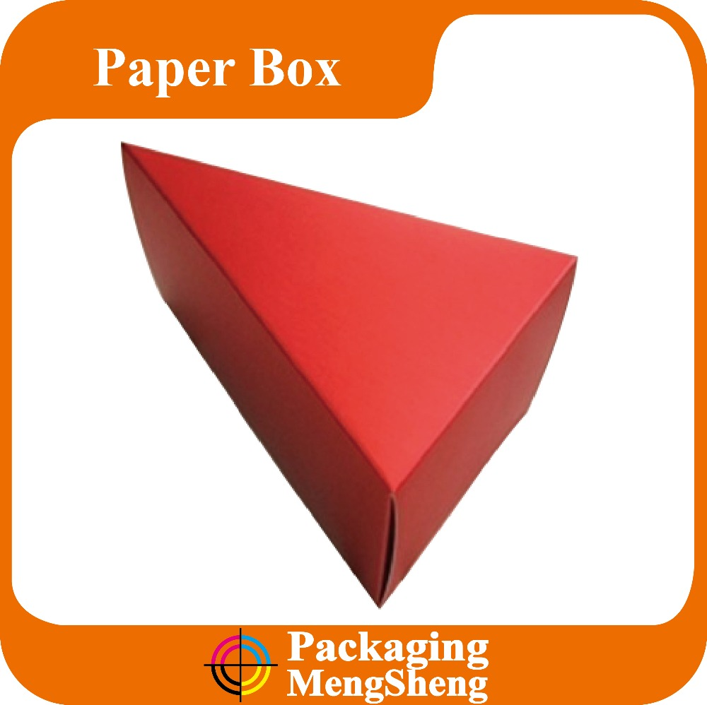 cardboard triangle box, triangle box packaging, triangle shape gift box