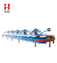 Oval Automatic T-shirt screen printing machine textile screen printer