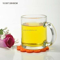 clear glass tea cup with thick wall