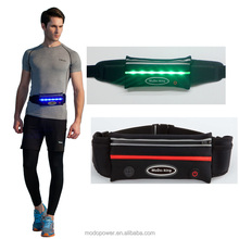 Outdoor Sport Equipments Military Waist Bag with Green LED Light