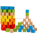Colorful Wood Square Blocks Crafts, Diy Projects Wooden Cubes