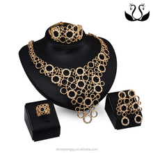 Queen Luxury 18k Gold Plated 4 Pieces Jewelry Set Small Order
