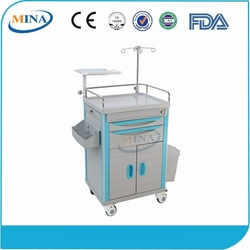 MINA-ET600C CE&ISO Easy cleaning medical trolley caster wheel