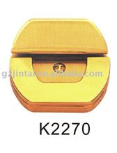 fashion style new design popular shiny gold plating bag lock briefcase lock code lock
