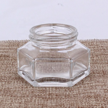 Factory supply cheaper Personal care packaging clear frosted 50g cream glass cosmetic jar