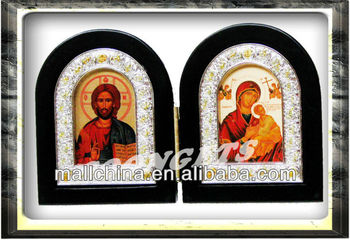 religious holy family wooden frame icons