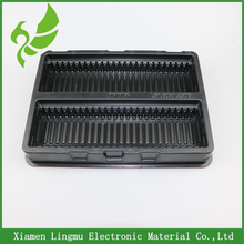 Xiamen Supplier Wholesale Customized Black Pvc Plastic Trays For Electronic Packaging.