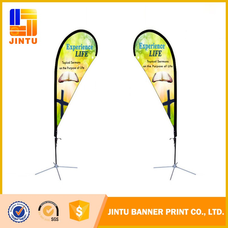 Wind blade roadside banner flags accessories pole and spike