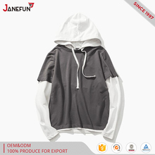 fashion two-color pullover cotton hoodies for boys
