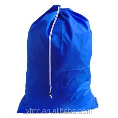 Hottest large polyster drawstring laundry bag