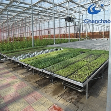 Econo Galvanized welded wire mesh panel greenhouse rolling bench tops