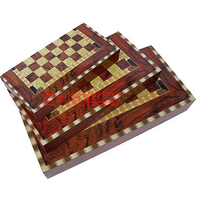 High Quality Wooden Retro Chess Game 3 in 1 Chess Board Backgammon Professional Manufacturer