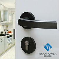 Modern Fashion Style Door Panel Handle Lock Without Key