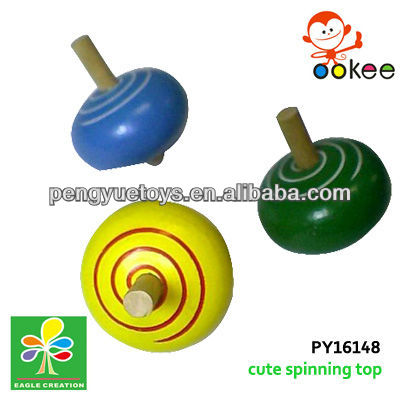 Wooden top spin -mini toys