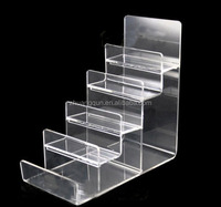 6 Tiers Clear Acrylic handbag / Wallet Display rack with factory price