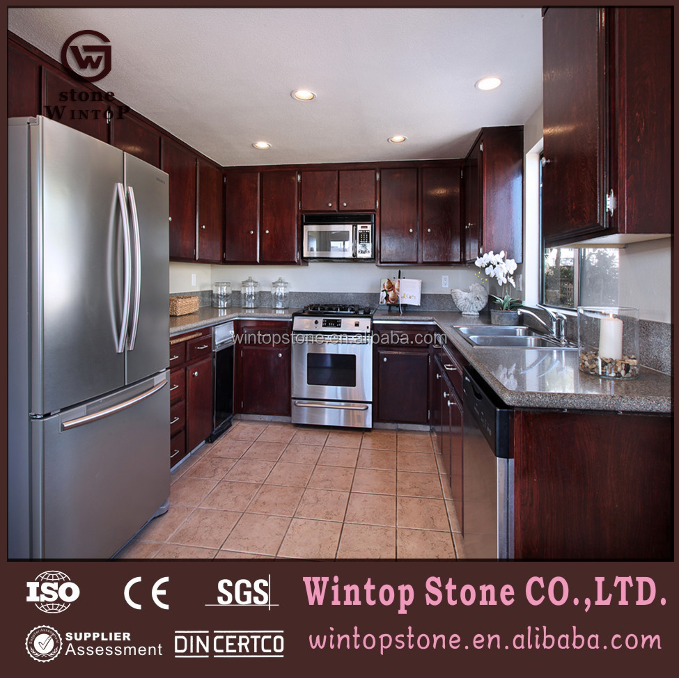 GVT0239 Easy to cleaned grey lower price granite stone vanity top hot sale in Russian Federation