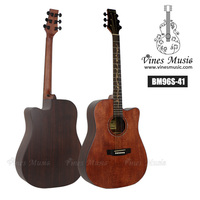 Wholesale Nacture Color Solid korean guitar with inlay wood fingerborad BM96S-41