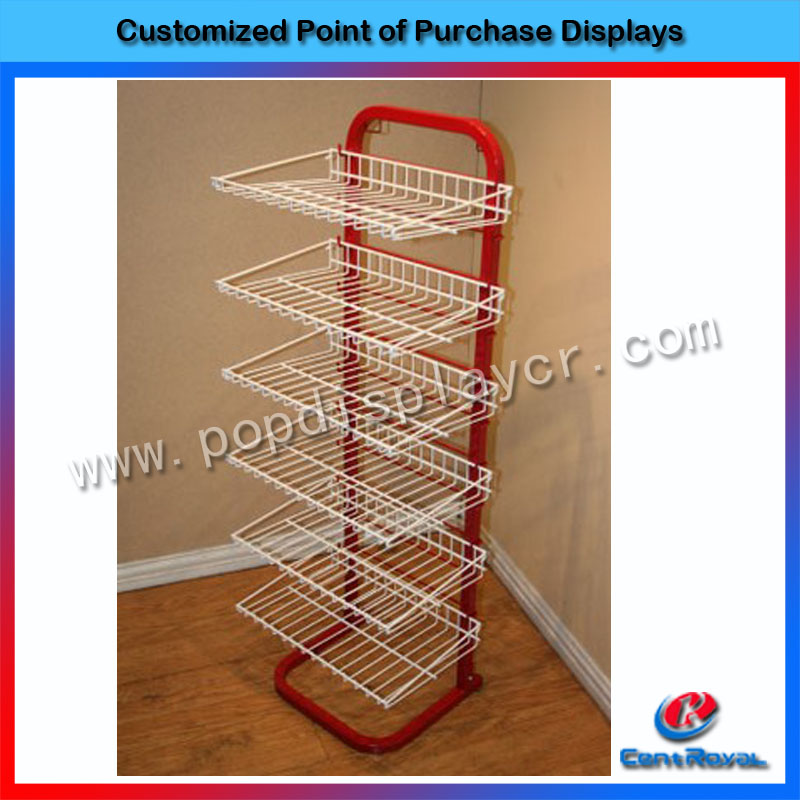 Customized 6-tier metal bread display case bakery display counter
