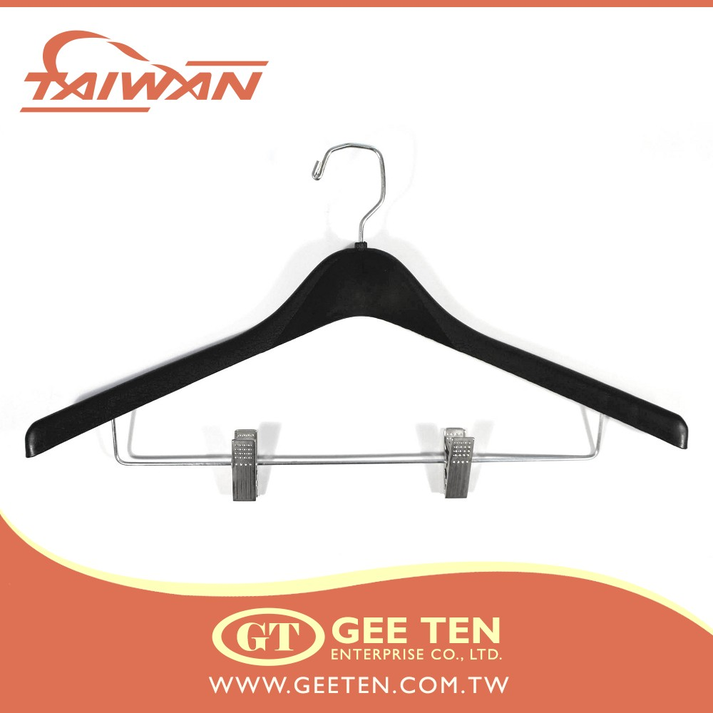 19inch oval clothes hangers and plastic suit hanger in fashion garment