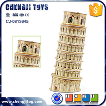 Leaning Tower of Pisa model intelligence toy for kids custom 3d puzzle