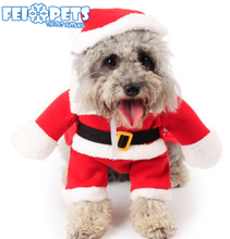 Latest Pet Christmas Products Santa Claus Dog Costume with Two Legs for Cat