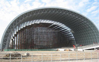 large span coal shed steel structure space frame for coalshed