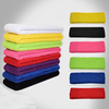 2015 high quality low price customized knit sweat headband/ elastic towel headhand/ sport headband as seen on TV