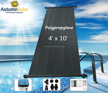 Swimming pool solar collector with UV stable