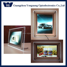 Ultra Slim Clear Crystal LED Light Box/LED Display Board/Crystal Advertising LED Picture Frame