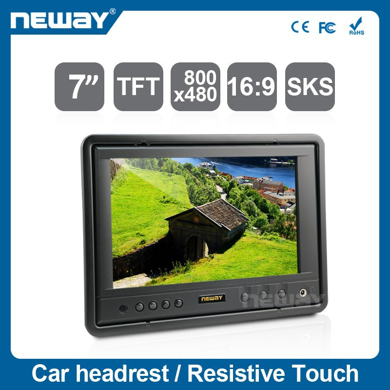 7 inch touch screen panel monitor 16:9 resolution 800*480