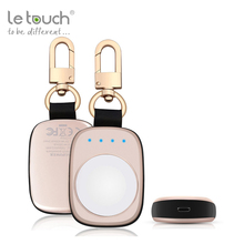 2017 phone accessories easy to carry 1A output 700mAh keychain wireless power bank for Apple watch