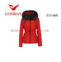 2015 outdoor lightweight jacket leather goose down jacket